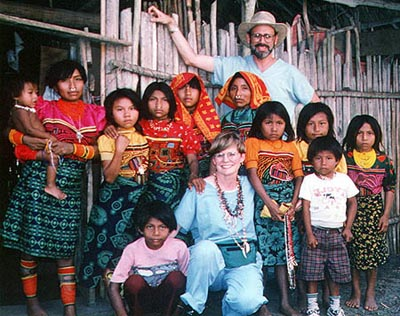 Diane and Steven Gele with Kuna People
